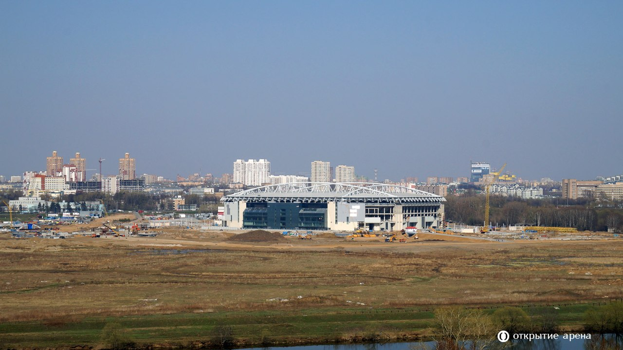 Строительство Открытие Арены. Фото 20/04/2014