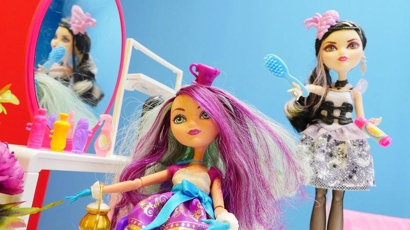 Peinados para Ever After High muñecas. Vídeos para niñas.