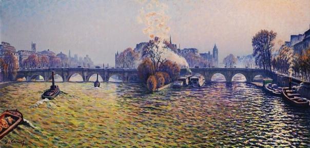 Французский художник Гюстав Кариот (Gustave Cariot) 1872-1950