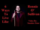 Life Like Ronnie O Sullivan - A Snooker Legend &amp His Class - Youtube