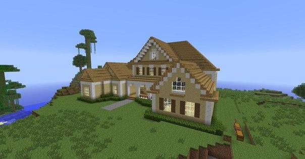 Майнкрафт постройки домов в