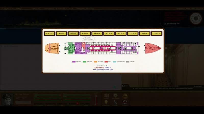 Titanic Voyage обзор Титаника C Deck - Boat Deck