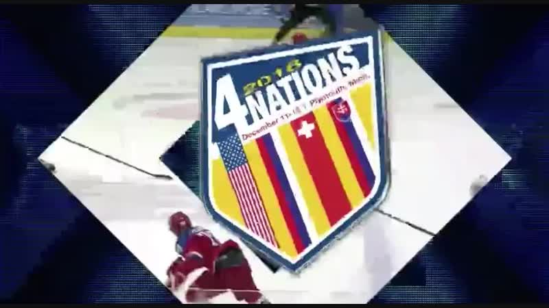 Late in the 2nd period Drew Commesso makes a big save on a short-handed chance from Russia to keep this a one-goal game. 4Nation