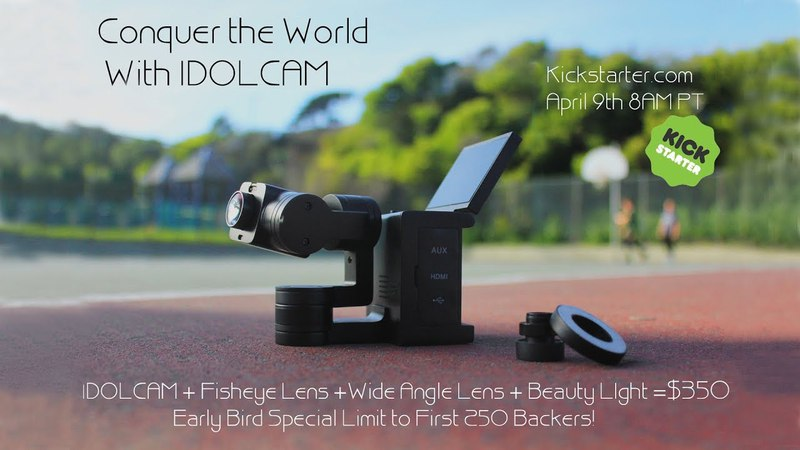 Idolcam 4K Video Camera with 3axis Gimbal Interchangeable Lens Lighting