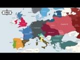 Европа за 2400 лет - изменения границы. От Древнего Рима до Евросоюза