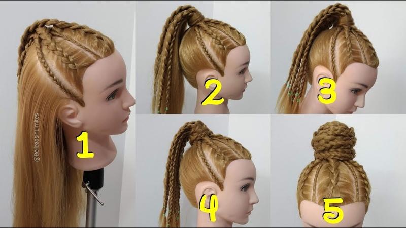 5 Peinados en 1 con Trenzas Africanas Cornrows by Belleza sin Limites