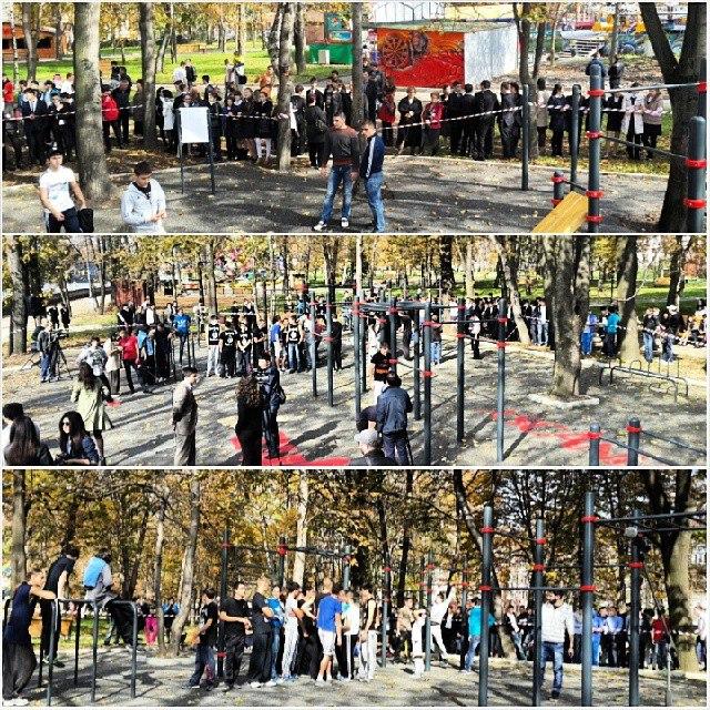 Глава Северной Осетии Таймураз Мамсуров принял участие в открытии WorkOut площадки