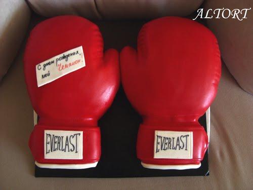Торт в виде боксерской перчатки своими руками 26