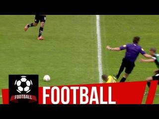 Player hacks down referee   Dutch Eredivisie League Goals & Highlights