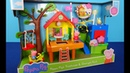Peppa Pig in English. Peppa Pig's Treehouse and George's Fort Playset. New toys from Peppa Pig