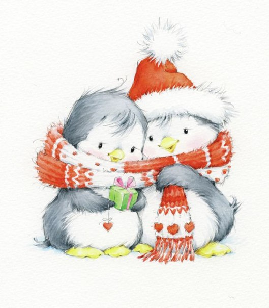Новогодние мишки и пингвинята от Марины Федотовой