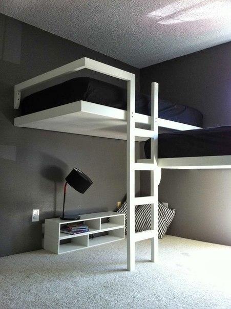 Интересная идея для маленькой но стильной комнаты