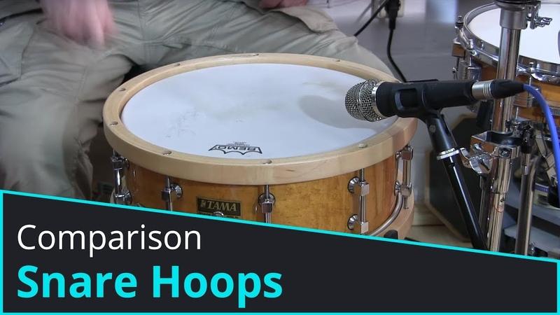 Snare Hoop Comparison - Triple Flanged, Die Cast, Woodhoop, Solid Brass, AK Drums, Angel Drums