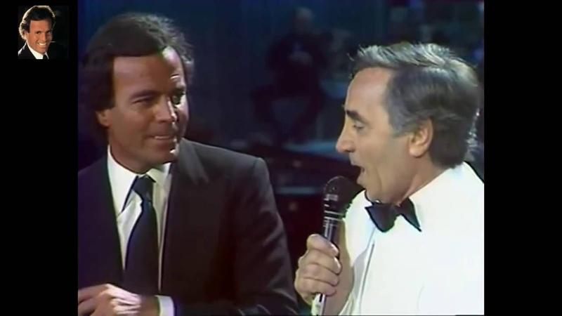 Que c'est triste venise: Julio Iglesias Charles Aznavour [Español Frances]