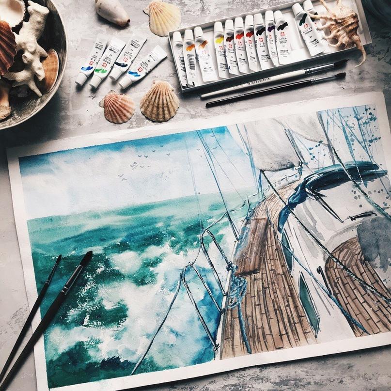 акварель, курсы акварели, живопись, курсы живописи