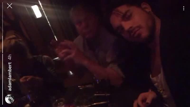 Adam Lambert IG story - dinner with dad - 10112018