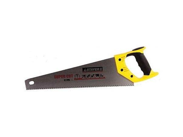 "Ножовка ""PROFI"" ""COBRA"" GX700, трехгранный японский зуб, импульсная закалка, 2-х комп ручка, 7 TPI, 400мм   STAYER"