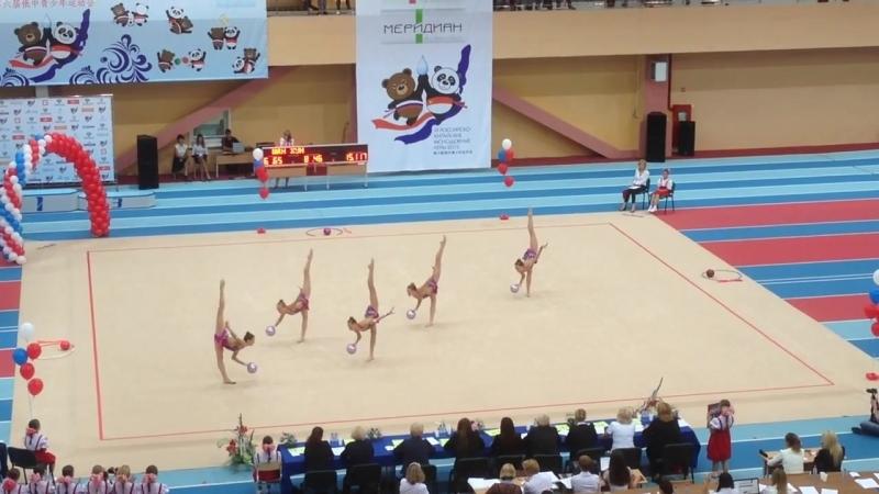 Сборная Москвы (юниорки) - 5 мячей (многоборье) Российско-Китайские Молодёжные Игры 2015
