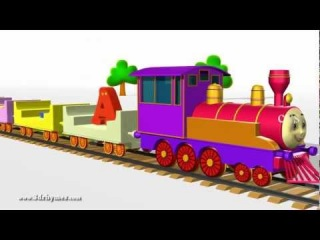 ABCD Alphabet Train song - 3D Animation Alphabet ABC Train Songs for children