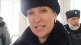 гр. СССР повторно приказал снять Власовский флаг с администрации. Вызвали полицию. ч.1(3)