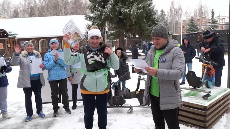 Забег на 5 километров в парке имени Кирова. Город Ижевск.