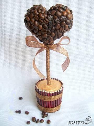 Поделки с кофейных зерен