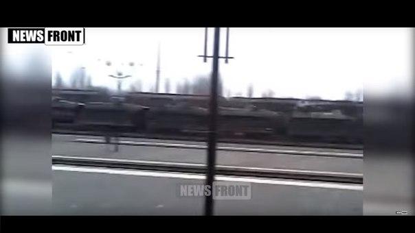 Переброска бронетехники на Донбасс