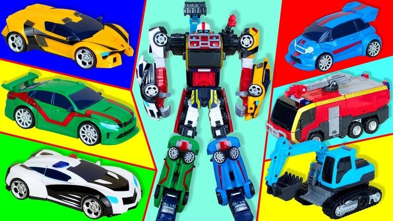 Transformer Tobot Athlon Magma six Transformer consist of six cars