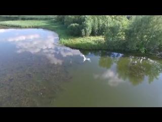 Полет дрона над Упой