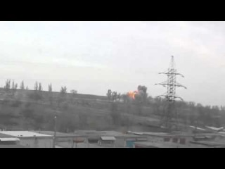Взрыв в Мариуполе на блокпосту