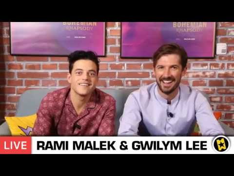 Interview of Rami Malek and Gwilym Lee in SensaCine - Transmission on Facebook LIVE