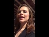Хейли передает привет фанатке на CTV Upfront 2015 Presentation / 4 июня 2015