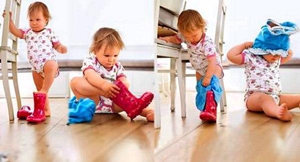 Как научить ребенка одеваться самостоятельно 10 практических шагов. 1. Сложите домашнюю одежду в доступное ребенку место. Сначала малыш просто будет вытаскивать ее, заворачиваться, прятаться в куче вещей. Но примерно к полутора годам он, по примеру родителей, начнет надевать на себя шапки, носки. А потом и другую одежду. 2. Если ребенок пытается что-то надеть сам (даже не очень удачно) боритесь с собственной нетерпеливостью. Не помогайте ему, пока он сам не попросит. 3. Часто первыми вещами,…