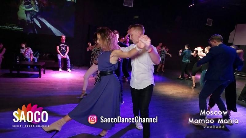 Stanislav Shvetsov and Marta Khanna Salsa Dancing at Moscow MamboMania weekend, Saturday 27.10.2018