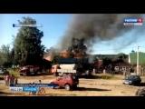 Съемка с места пожара в Тулиновке