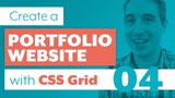 How to create a Portfolio Website with CSS Grid &amp Sass Part 4 About Section using Grid Line Names