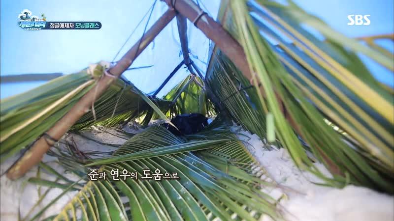 이유비, 리얼 예능 그 자체 '고양이 세수로 아침 시작' @김병만의 정글의 법칙 341회 20181130