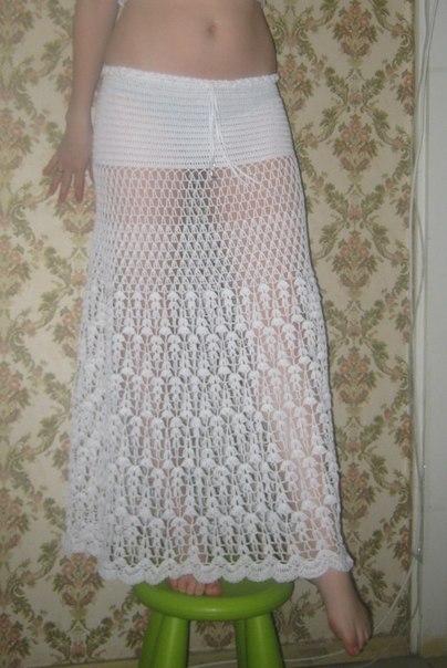 Вязание юбки в пол