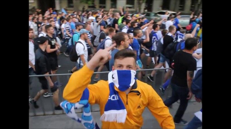 Марш фанатов Динамо, Днепра и Шахтера в Днепре: полная версия