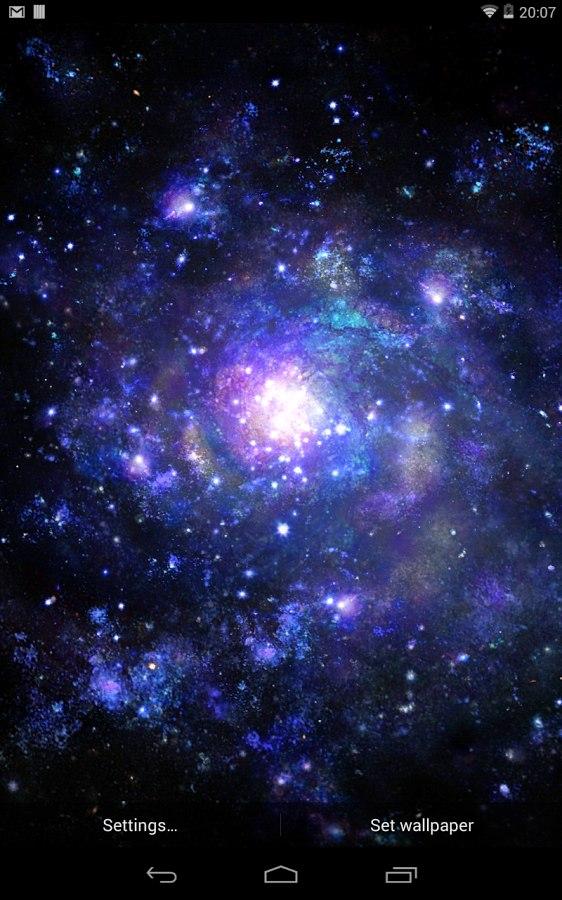 Живые анимированные обои Galactic Core