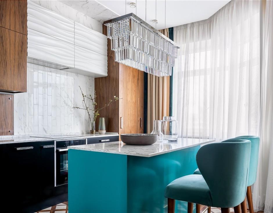 Оттенки изумруда: московская квартира 126 м²
