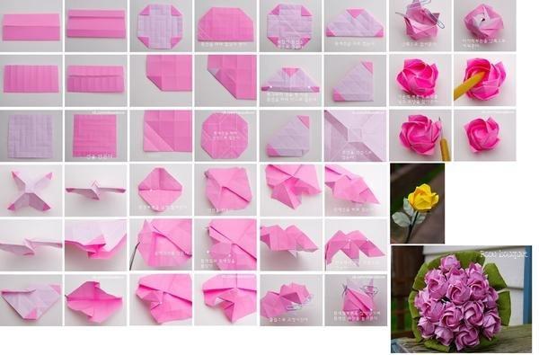 Как сделать букет роз из бумаги своими руками поэтапно