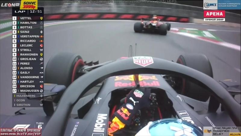 Борьба двух Red Bull (AzerbaijanGP 2018)