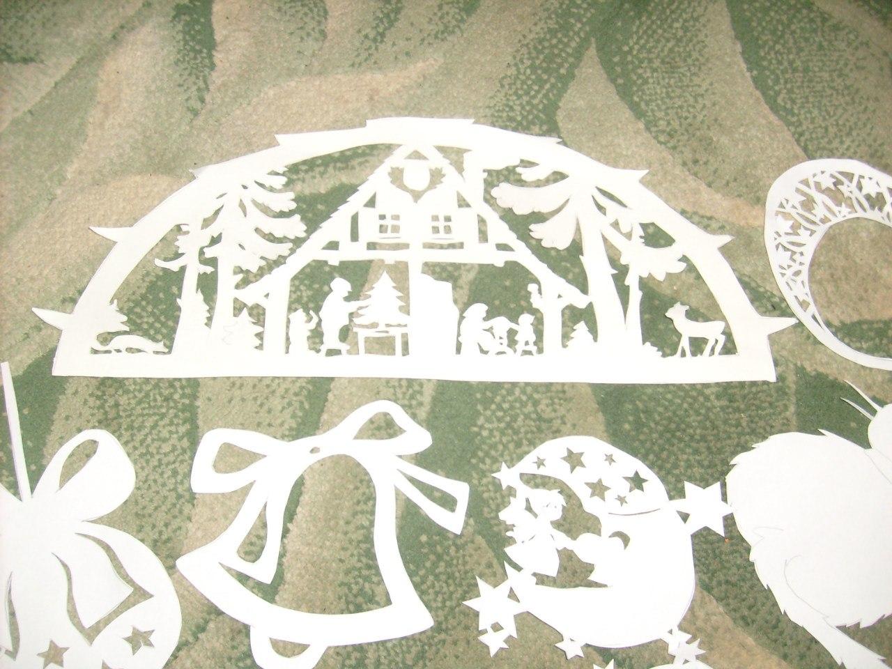 Новогодний трафареты на окна своими руками