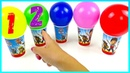 Learn colors with finger family paw patrol toys numbers playclaytv balloons