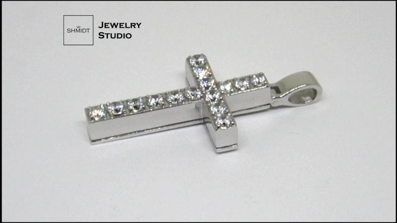 Крест двойной, золото 585