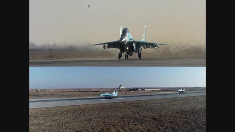 Полеты новейших истребителей МиГ 35 Эксклюзивное видео Минобороны