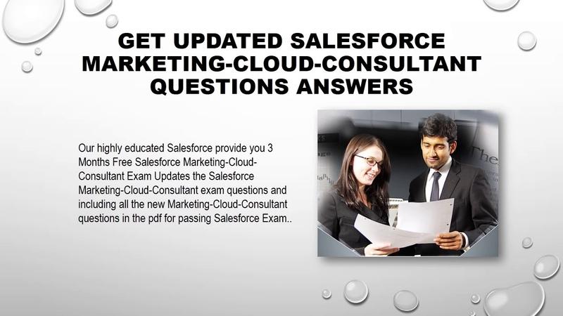 Salesforce Marketing Cloud Consultant Exam braindumps Questions Answers 2019