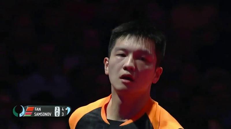 Fan Zhendong vs Vladimir Samsonov I 2018 ITTF Mens World Cup Highlights (14)