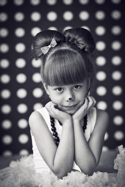 Прическа для девочки уши микки мауса